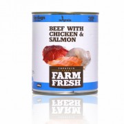 Farm Fresh – Beef with Chicken & Salmon 800 g